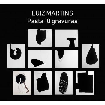 Pasta contendo 10 gravuras de Luiz Martins