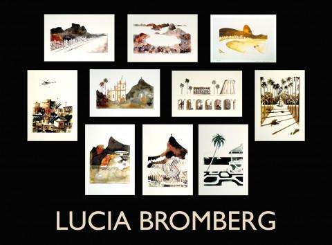 Pasta contendo 10 gravuras Lucia Bromberg