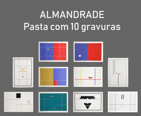 Pasta contendo 10 gravuras Almandrade