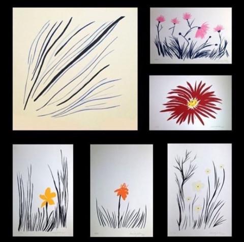 Conjunto com 6 gravuras de Mônica Sartori